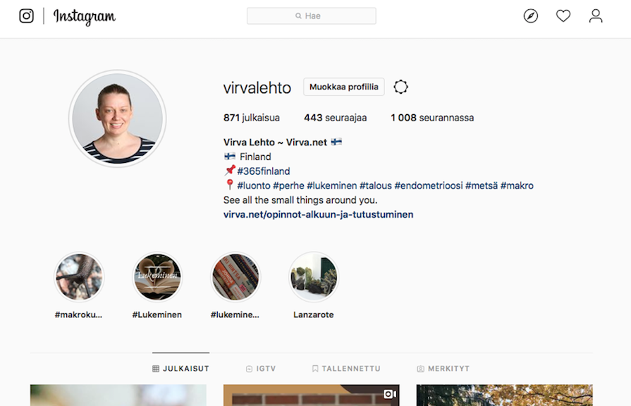 Instagram Virva Lehto