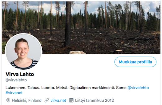 Twitter Virva Lehto